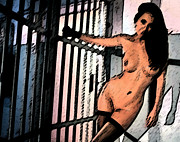 Raunchy Posters - Jail Time Poster by Esoteric Desires