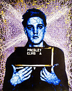 Elvis Presley Art Painting Originals - Jailhouse Rock alternate by Bobby Zeik