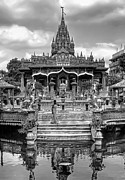 Calcutta Posters - Jain Temple monochrome Poster by Steve Harrington