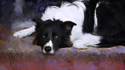 Animal Themes Painting Prints - Jake Print by Laura Rothstein