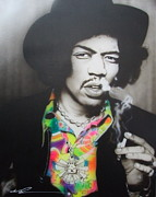 Jimi Hendrix Paintings - Jam Back at the House by Christian Chapman Art