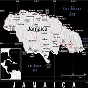 Jamaica Mixed Media Posters - jamaica Exotic Map Poster by Florene Welebny