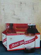 Bottle Cap Painting Posters - Jamaica Red Stripe Beer Poster by Kenneth Harris