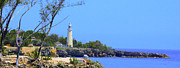 Boats Digital Art Prints - Jamaican LightHouse by Steve Ellenburg Print by Steve Ellenburg
