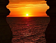 Jamaican Sunset Posters - Jamaican Sunset 2 Poster by Linda Bianic