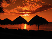 Jamaican Sunset Posters - Jamaican Sunset Poster by Addie Hocynec