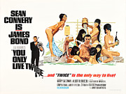Movie Digital Art Posters - James Bond You Only Live Twice Poster Poster by Sanely Great