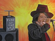 Funk Paintings - James Brown by Jeepee Aero