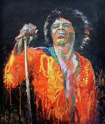 King James Prints - James Brown Print by Malcolm Mason