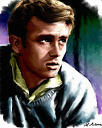 Movie Star Paintings - James Dean by Allen Glass