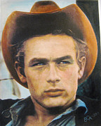 James Dean Mixed Media Posters - James Dean Poster by Anette Liene