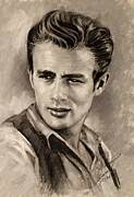James Dean Drawings - James Dean by Viola El