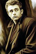 James Dean Artwork Print by Sheraz A
