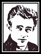 James Dean Mixed Media Posters - James Dean Poster by Bernie Levine