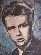 James Dean Drawings Posters - James Dean Blues Poster by Eric Dee