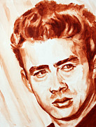 Portraits Paintings - James Dean by Derek Russell