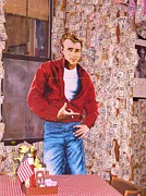 Table Cloths Framed Prints - James Dean  Framed Print by Donna Wilson