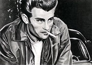 James Dean Drawings Posters - James Dean Poster by Cool Canvas