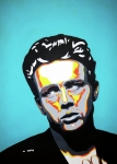Movies Painting Originals - James Dean  by Grant  Swinney