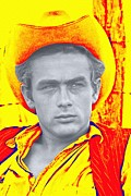 1956 Movies Mixed Media Prints - James Dean in Giant Print by Art Cinema Gallery