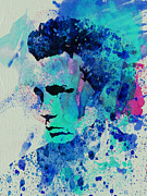 Actress Mixed Media Metal Prints - James Dean Metal Print by Irina  March