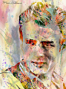 Dean Digital Art Acrylic Prints - James Dean Acrylic Print by Mark Ashkenazi