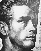 James Dean Painting Originals - James Dean by Michael Damico