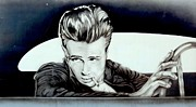 Movie Star Photo Originals - James Dean Mural by Steven Parker