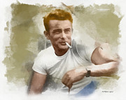 Paulette Wright Digital Art Prints - James Dean Print by Paulette Wright
