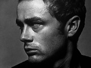 James Dean Prints - James Dean Portrait Print by Sanely Great