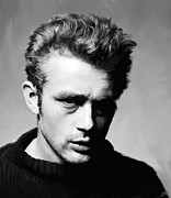 Entertainer Art - James Dean - Portrait by Paul Tagliamonte