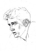 James Dean Drawings Posters - James Dean Poster by Richard Johns