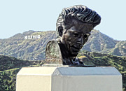 James Dean Photos - James Dean Statue at Griffith Park Observatory by Gregory Dyer