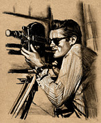 James Dean Drawings Posters - James Dean Poster by Teresa Beveridge