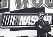 Daytona 500 Photos - James Franco Daytona 500 by Shanna Vincent