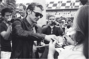 Daytona 500 Photos - James Franco Daytona Fans by Shanna Vincent
