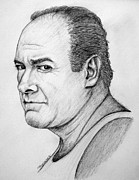 Mob Drawings Prints - James Gandolfini Print by Patrice Torrillo