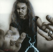 Grunge Paintings - James Hetfield by Christian Chapman Art