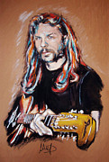 Musician Mixed Media Framed Prints - James Hetfield Framed Print by Melanie D