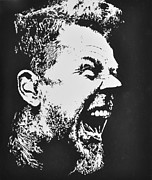 James Hetfield Posters - James Hetfield Poster by Paula Sharlea