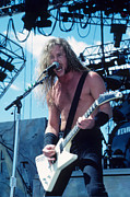 James Photo Metal Prints - James Hetfield  Metal Print by Rich Fuscia