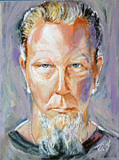Metallica Painting Framed Prints - James Hetfield Framed Print by Stanciu Razvan