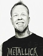 Metallica Drawings Posters - James Hetfield Poster by Stefania Spigato