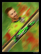 Andretti Autosport Prints - James Hinchcliffe Print by Blake Richards