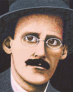 Writer Painting Originals - James Joyce by Martin Keaney