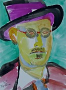 Writer Painting Originals - James Joyce by Troy Thomas