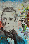 James K. Polk Print by Corporate Art Task Force
