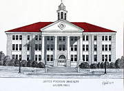Hall Mixed Media Posters - James Madison University Poster by Frederic Kohli