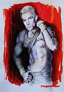 Portraits Mixed Media - James Marsters by Francoise Dugourd-Caput