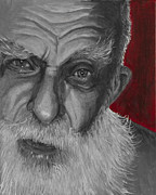 James Randi.  Print by Simon Kregar
